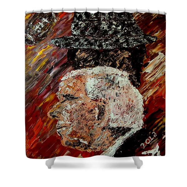 Bear Bryant and Mal Moore  Shower Curtain by Mark Moore