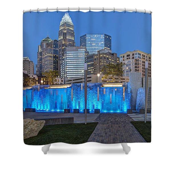 Bearden Blue Shower Curtain by Chris Austin