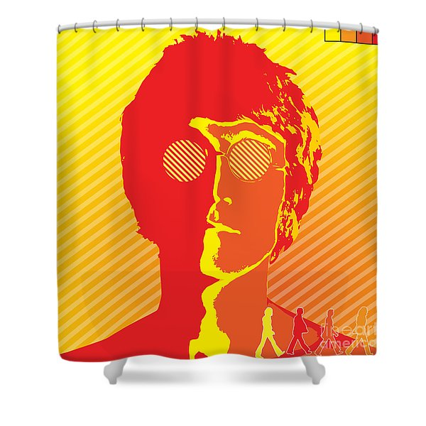 Beatles Vinil Cover Colors Project No.03 Shower Curtain by Caio Caldas