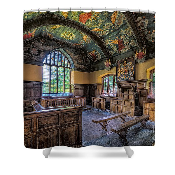 Beautiful 17th Century Chapel Shower Curtain by Adrian Evans