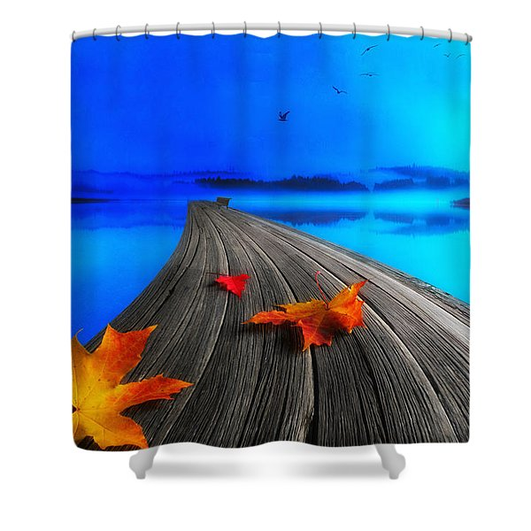 Beautiful Autumn Morning Shower Curtain by Veikko Suikkanen