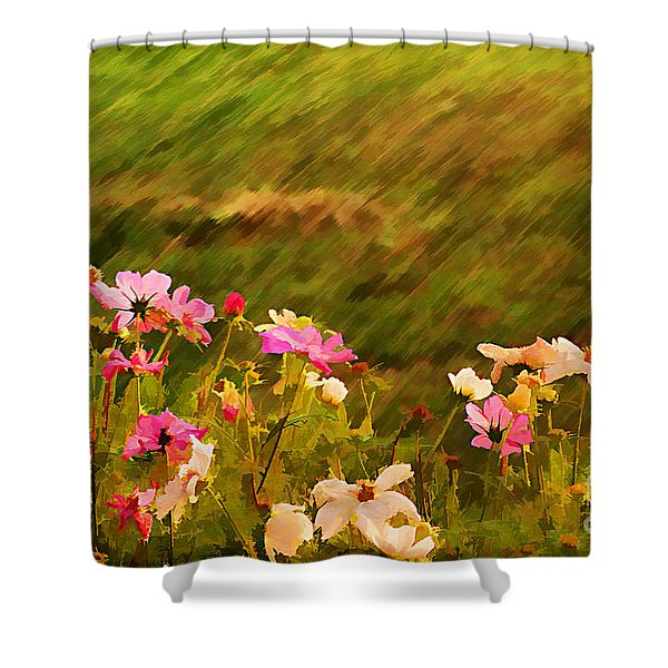 Beautiful Cosmos Shower Curtain by Darren Fisher
