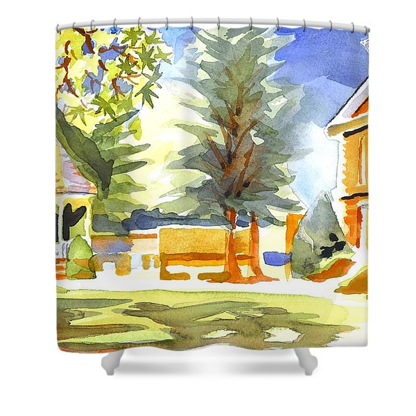 Beautiful Day On The Courthouse Square Shower Curtain by Kip DeVore