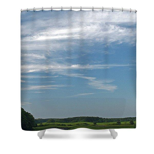 Beautiful Idyllic Cape Cod Shower Curtain by Juergen Roth
