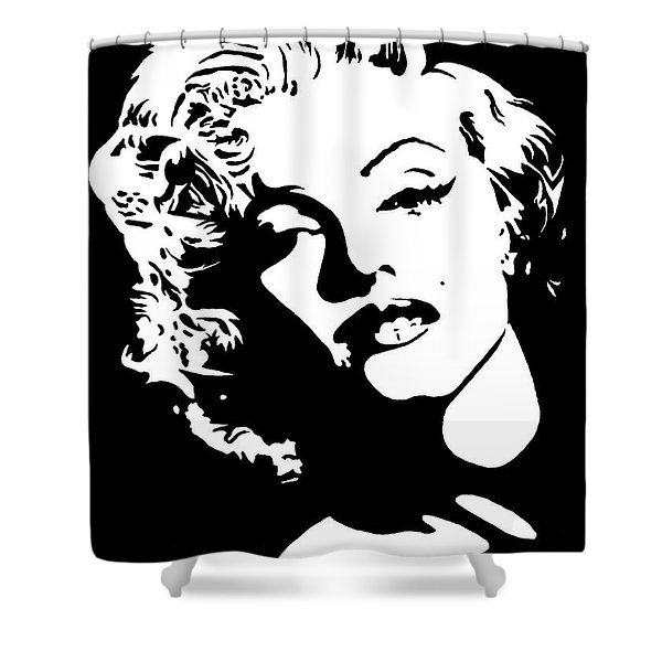 Beautiful Marilyn Monroe Original Acrylic Painting Shower Curtain by Georgeta  Blanaru
