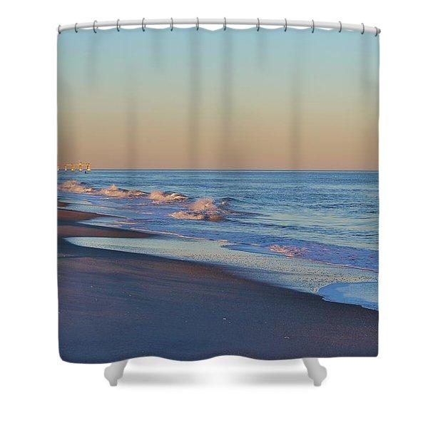 Beautiful Ocean In Nc Shower Curtain by Cynthia Guinn