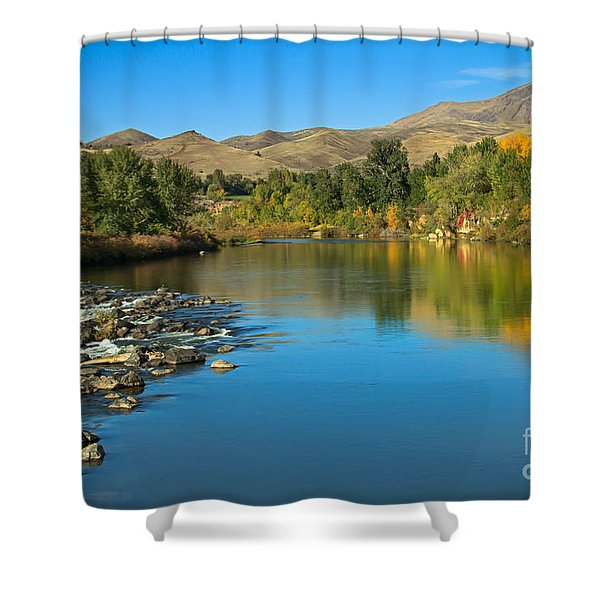 Beautiful Payette River Shower Curtain by Robert Bales