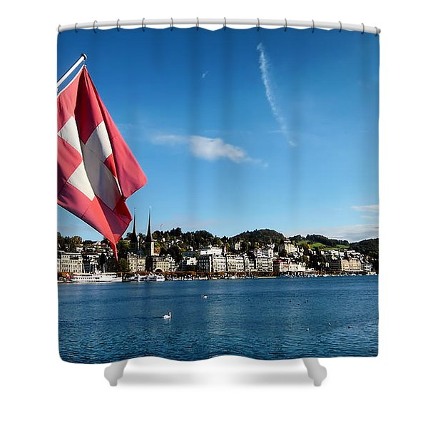 Beauty of Lucerne Shower Curtain by Mountain Dreams