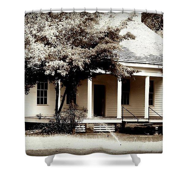 Bellavue Plantation  Shower Curtain by Debra Forand