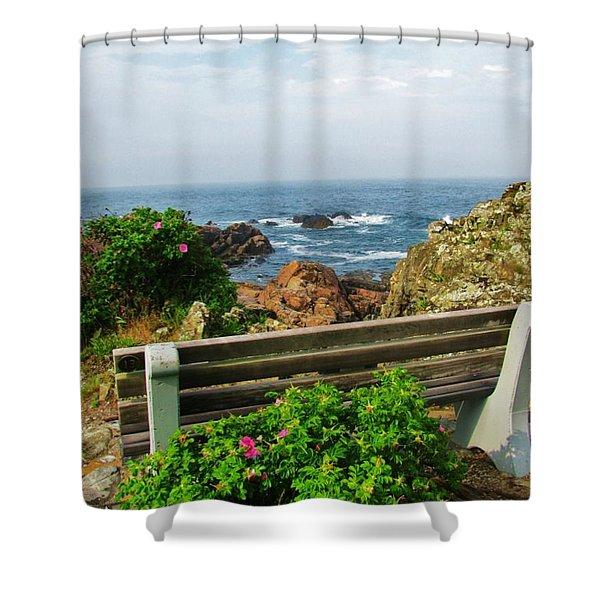 Marginal Way Shower Curtain by Diane Valliere