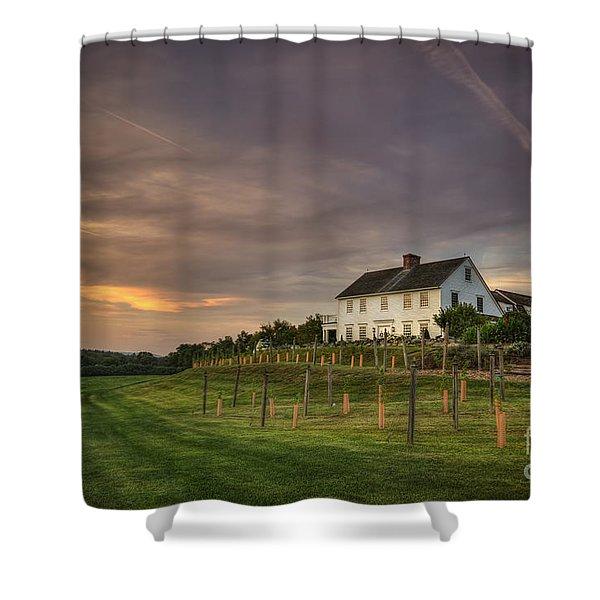 Beneath An Evening Sky Shower Curtain by Evelina Kremsdorf