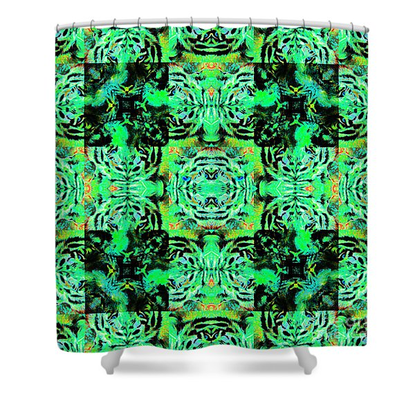 Bengal Tiger Abstract 20130205m180 Shower Curtain by Wingsdomain Art and Photography