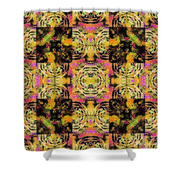 Bengal Tiger Abstract 20130205p80 Shower Curtain by Wingsdomain Art and Photography