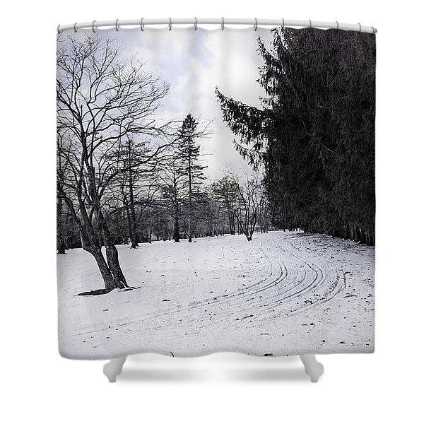 Berkshires Winter 9 - Massachusetts Shower Curtain by Madeline Ellis