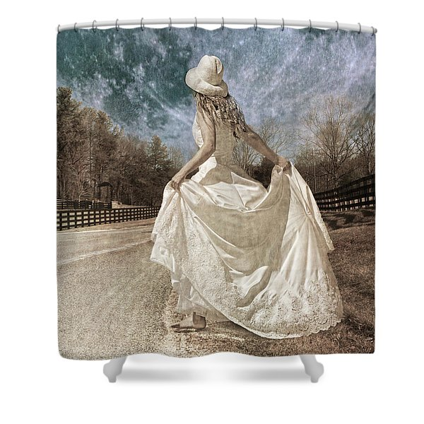 Beside Myself the Moon Shower Curtain by Betsy C  Knapp