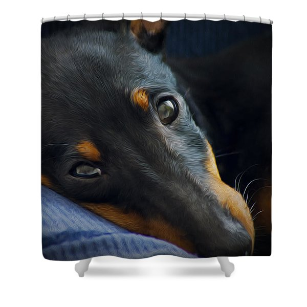 Best Friend Shower Curtain by Aged Pixel