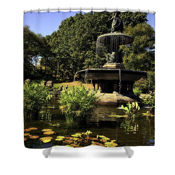 Bethesda Fountain - Central Park 2 Shower Curtain by Madeline Ellis