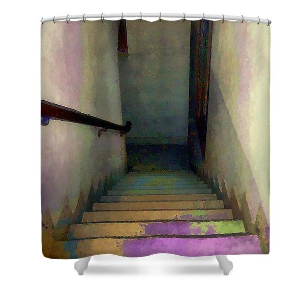Between Floors Shower Curtain by RC DeWinter