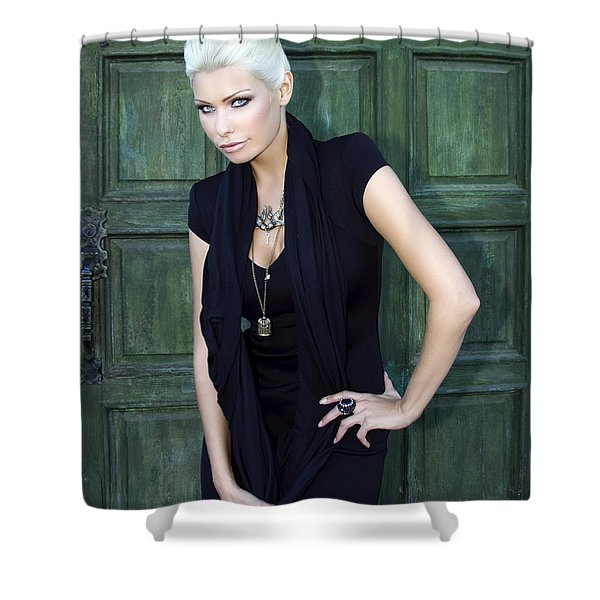 Bewitching Beauty Palm Springs Shower Curtain by William Dey