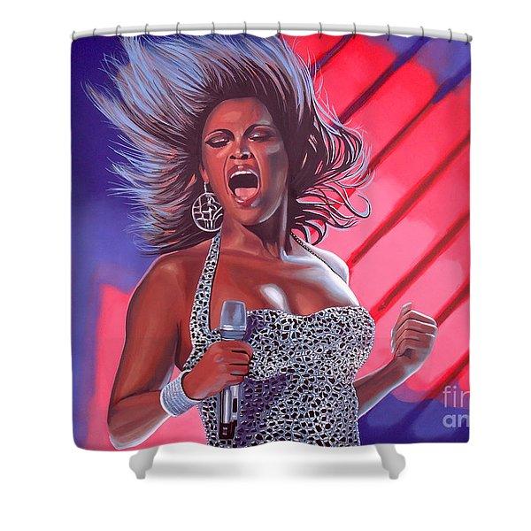 Beyonce Shower Curtain by Paul  Meijering