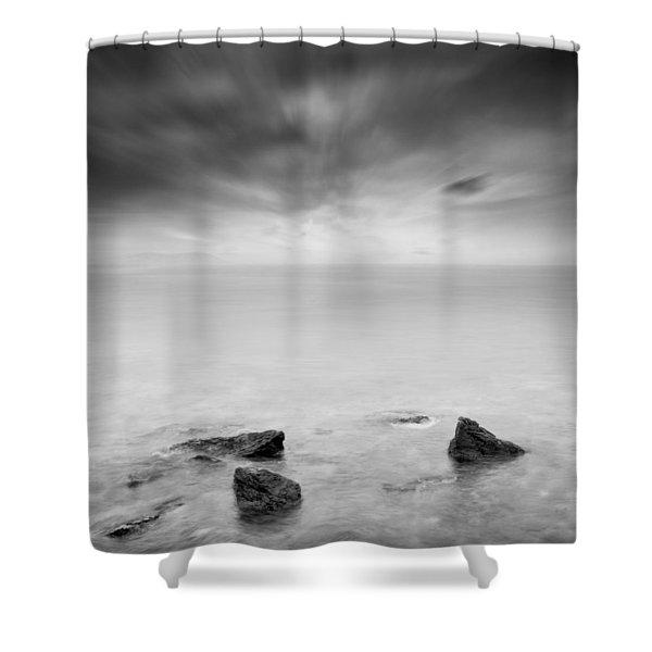 Beyond the horizon Shower Curtain by Taylan Soyturk