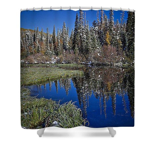 Big Cottonwood Canyon  Shower Curtain by Richard Cheski