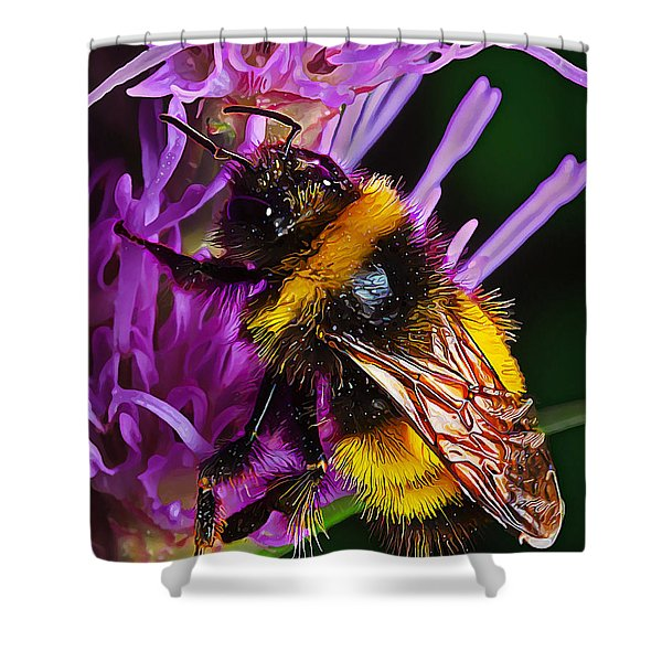 Big Dusty Bumble Shower Curtain by Bill Caldwell -        ABeautifulSky Photography
