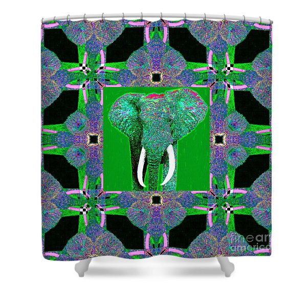 Big Elephant Abstract Window 20130201p128 Shower Curtain by Wingsdomain Art and Photography