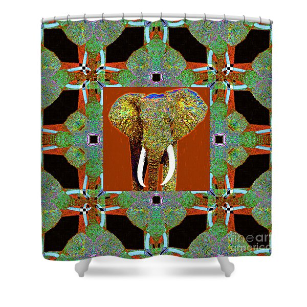 Big Elephant Abstract Window 20130201p20 Shower Curtain by Wingsdomain Art and Photography