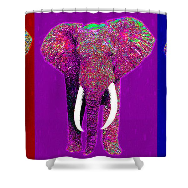Big Elephant Three 20130201v2 Shower Curtain by Wingsdomain Art and Photography