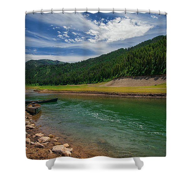 Big Elk Creek Shower Curtain by Chad Dutson