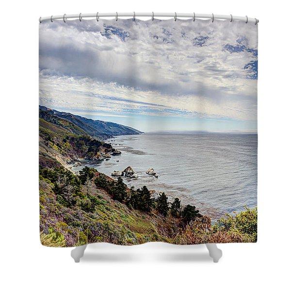 Big Sur Coast Shower Curtain by Heidi Smith