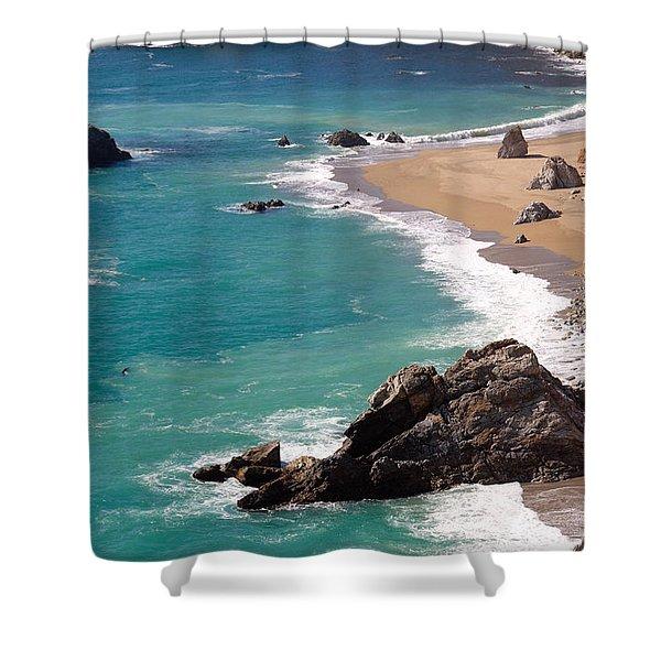 Big Sur Coast Shower Curtain by Lynn Bauer
