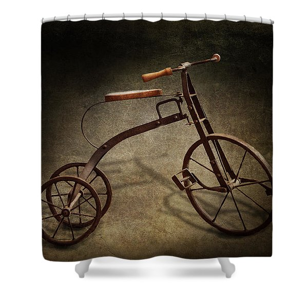 Bike - The Tricycle  Shower Curtain by Mike Savad