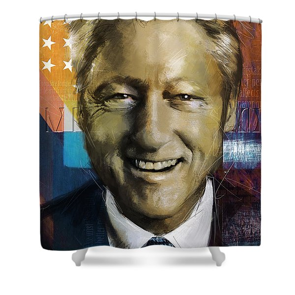Bill Clinton Shower Curtain by Corporate Art Task Force