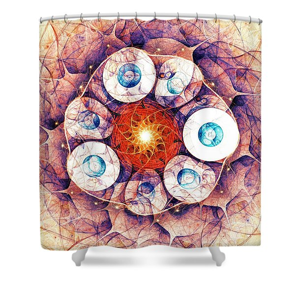 Binding of Seven Shower Curtain by Anastasiya Malakhova