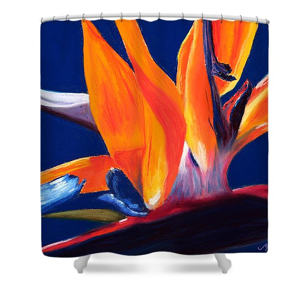 Bird of Paradise Shower Curtain by Mary Benke
