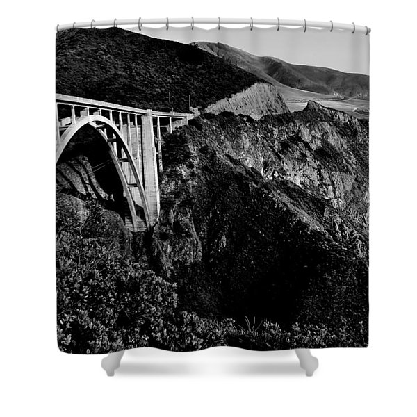 Bixby Black and White Shower Curtain by Benjamin Yeager
