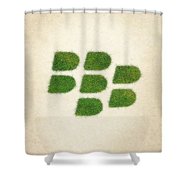 Blackberry Grass Logo Shower Curtain by Aged Pixel