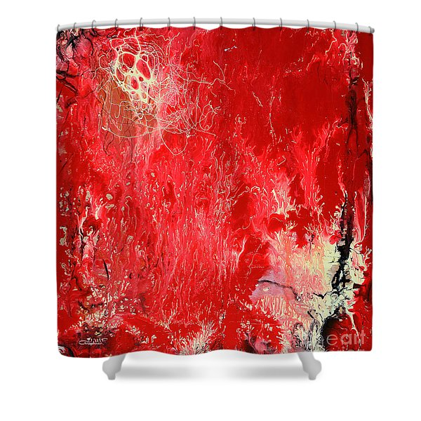 Bleeding Love Shower Curtain by Jutta Maria Pusl