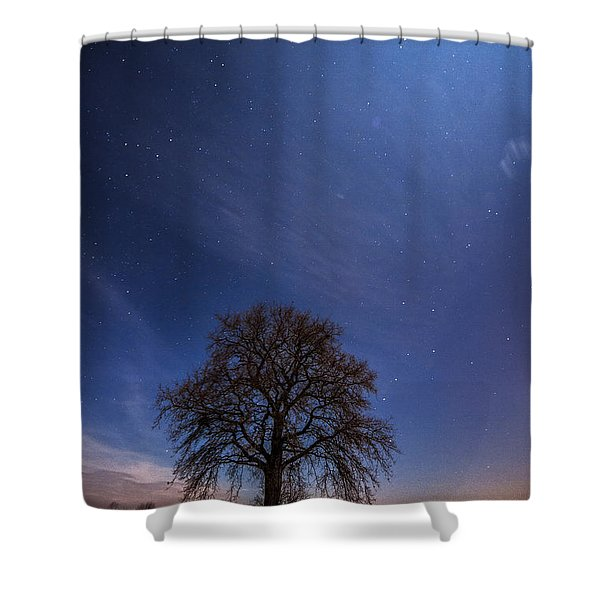Blessed by the moon Shower Curtain by Davorin Mance
