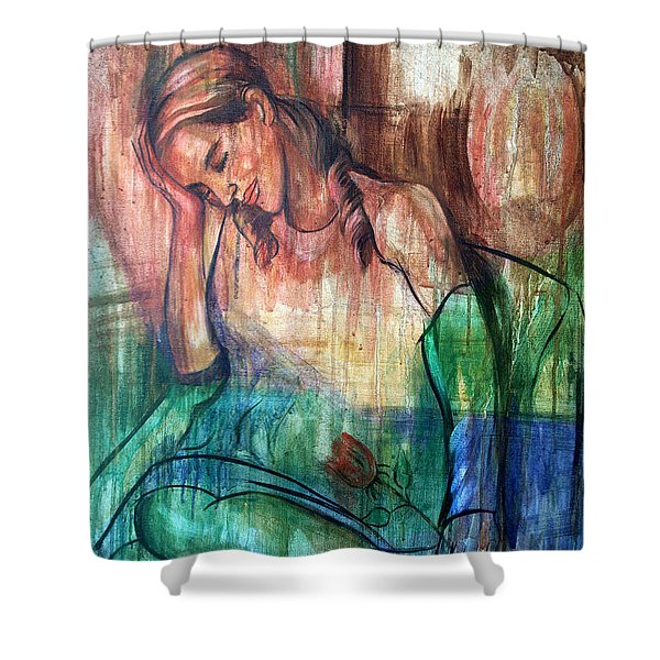 Blind Date Shower Curtain by Anthony Falbo
