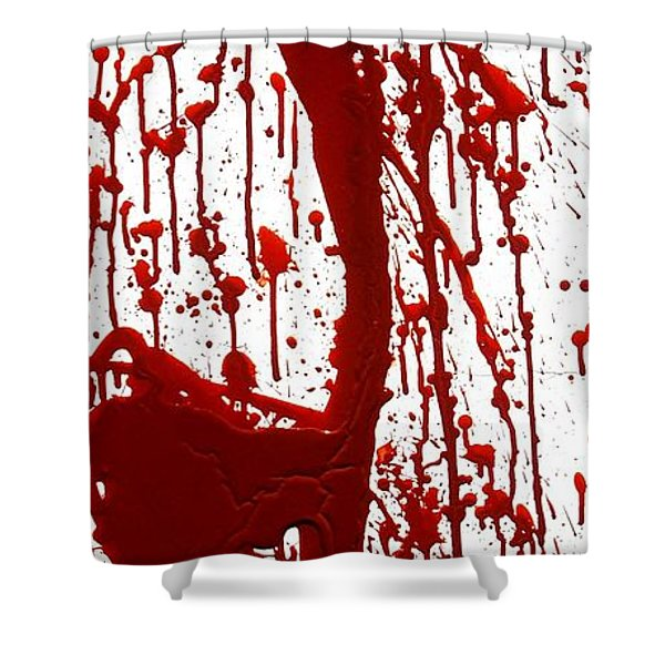 Blood Splatter II Shower Curtain by Holly Anderson
