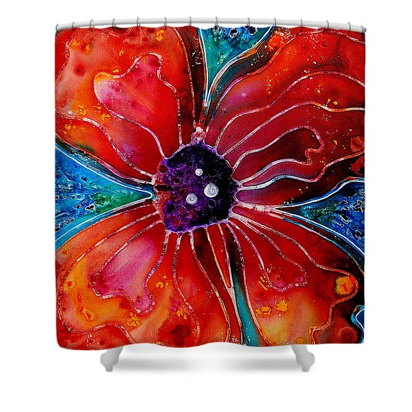 Bloom Shower Curtain by Sharon Cummings