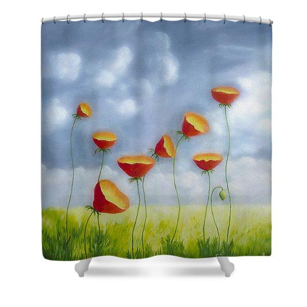 Blooming Summer Shower Curtain by Veikko Suikkanen