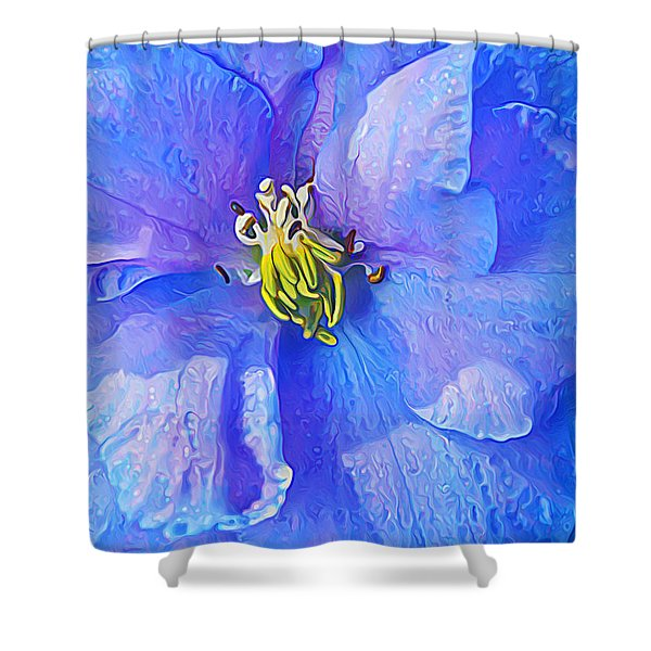 Blue Beauty Shower Curtain by Bill Caldwell -        ABeautifulSky Photography