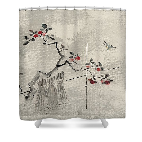 Blue Bird Shower Curtain by Aged Pixel