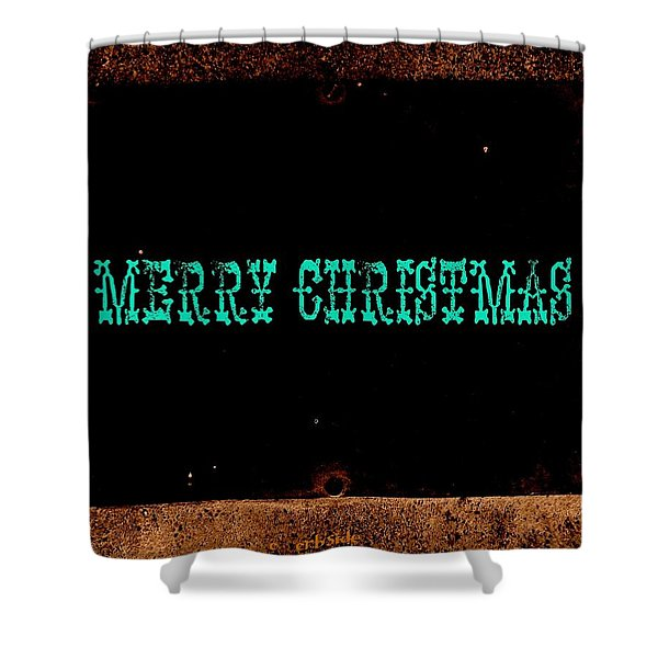 Blue Christmas Shower Curtain by Chris Berry