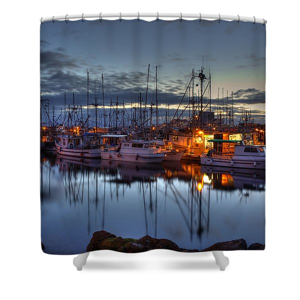 Blue Hour Shower Curtain by Randy Hall