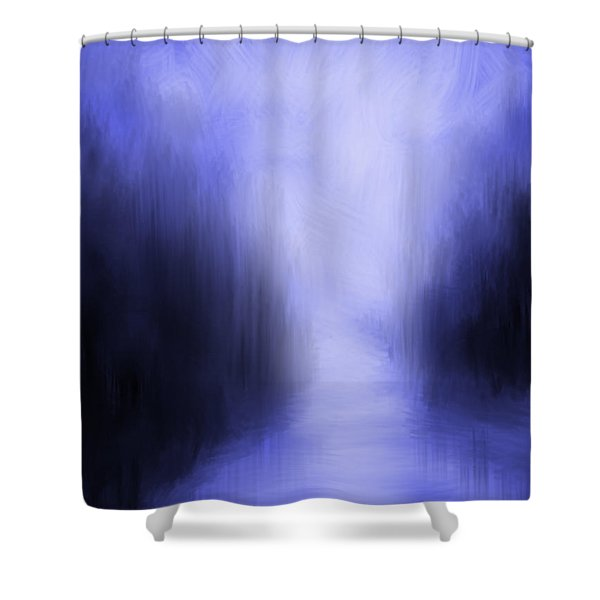 Blue Night Shower Curtain by Kume Bryant